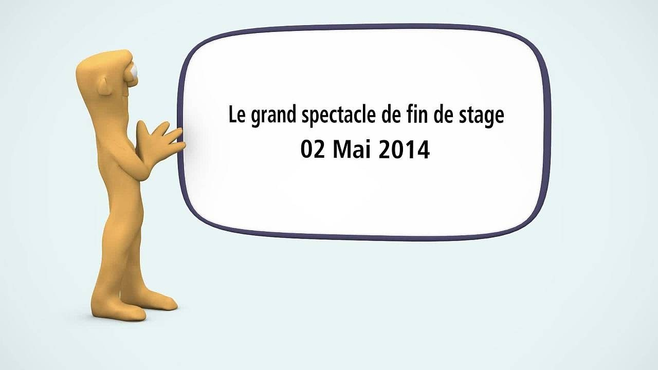 Le grand spectacle de fin de stage du 2 Mai 2014